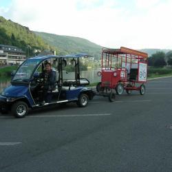 Dépannage du bus en golfette